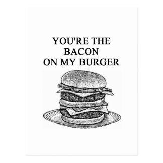 bacon cheesenurger lover postcard