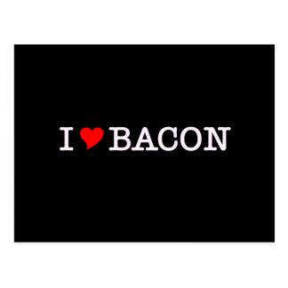 Bacon I Love Postcard