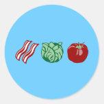 Bacon Lettuce & Tomato - The BLT! Round Sticker