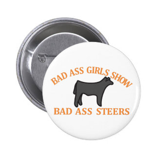 Bad Ass Girls 6 Cm Round Badge