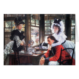 Bad news (The separation) by James Tissot Greeting Card