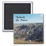 Badlands, South Dakota Square Magnet