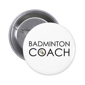 Badminton Coach 6 Cm Round Badge
