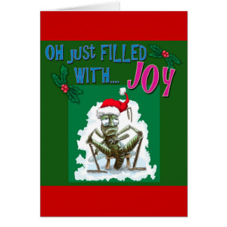 Bah Humbug with miserable grasshopper Greeting Card
