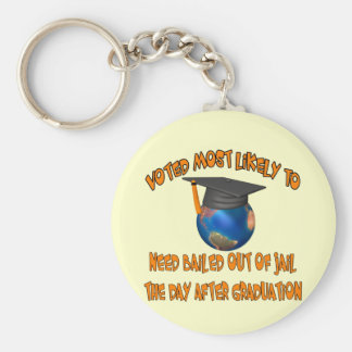 Bailed Out Of Jail Basic Round Button Key Ring