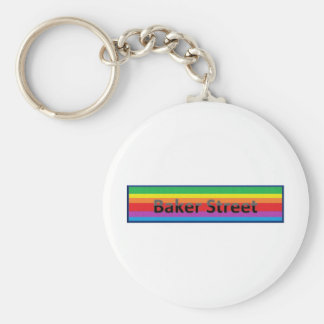 Baker Street  Style 2 Basic Round Button Key Ring