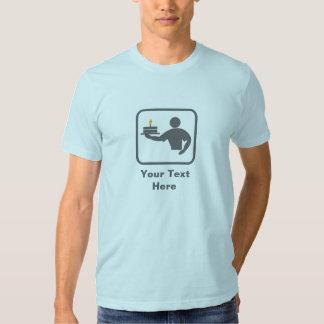 Baking Man with Cake (Grey Logo) -- Customizable Tees