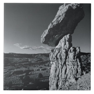 Balancing Rock, New Mexico Large Square Tile