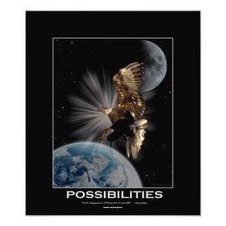 Bald Eagle  Fantasy Motivational Art Print Photograph