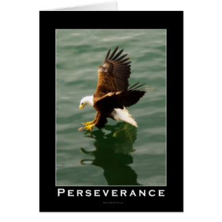 Bald Eagle Motivational Gift Greeting Card