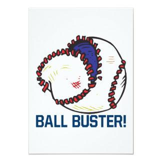 Ball Buster 13 Cm X 18 Cm Invitation Card
