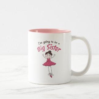 Ballerina Big Sister To Be Two-Tone Mug