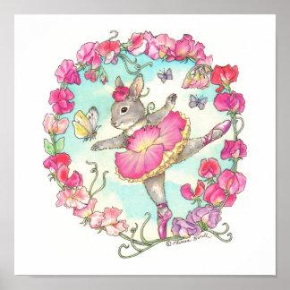Ballerina Bunny Print Sweet Pea
