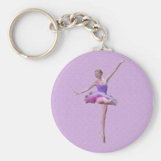 Ballerina in Pink and Purple Keychain