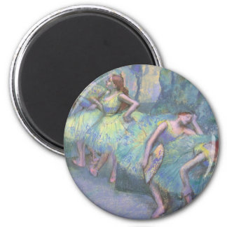 Ballet Dancers in the Wings by Edgar Degas 6 Cm Round Magnet