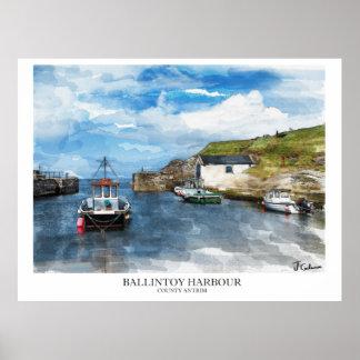 Ballintoy Harbour, Northern Ireland Poster