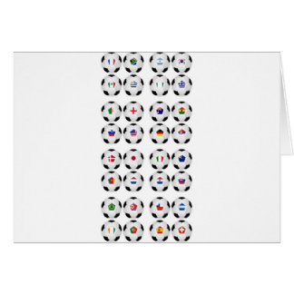Balls With Flags Greeting Card