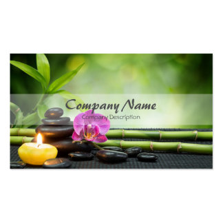 Bamboo Candle Stone Orchid Spa Massage Therapy Pack Of Standard Business Cards