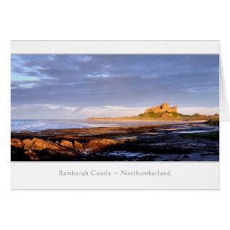 Bamburgh Castle panorama, Northumberland Greeting Card
