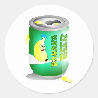 Banana beer round sticker