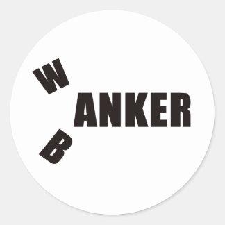 BANKER2 ROUND STICKER