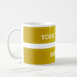 BANNER green yellow gradient + your text Basic White Mug