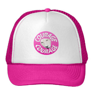 Banner of Courage (Round Pink) Cap
