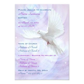 Baptism religious communion confirmation dove 13 cm x 18 cm invitation card