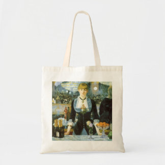 Bar at the Folies Bergere by Manet, Vintage Art Budget Tote Bag