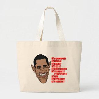 Barack Hussein Obama's List of Qualifications Jumbo Tote Bag