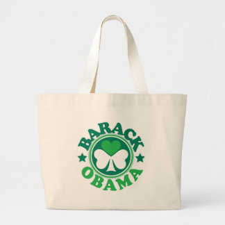 Barack Obama Shamrock Heart Jumbo Tote Bag