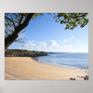 Barafundle Bay Pembroke Pembrokeshire Coast Poster