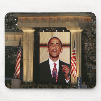 Barak Obama speaks at the last night of the Mouse Pad