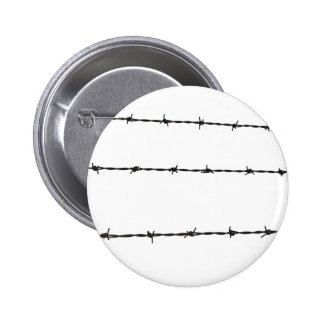 barbed wire 6 cm round badge
