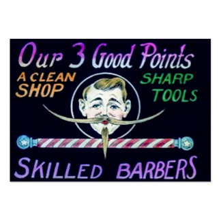 Barber Shop Skilled Barbers Clean Shop Sharp Tools Pack Of Chubby Business Cards