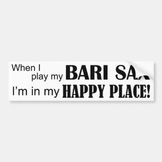 Bari Sax Happy Place Bumper Sticker
