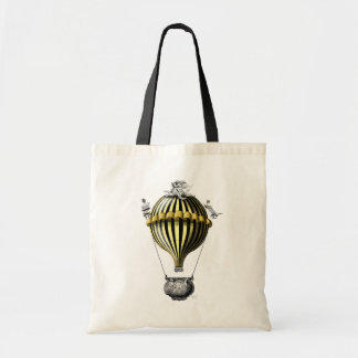 Baroque Balloon Black Yellow Budget Tote Bag