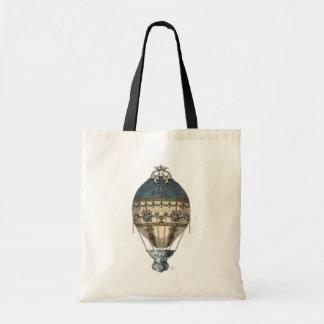 Baroque Balloon Blue & Cream Budget Tote Bag