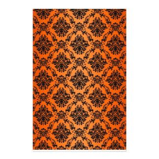 Baroque Orange Gothic Victorian Scapebook Sheet Stationery Design