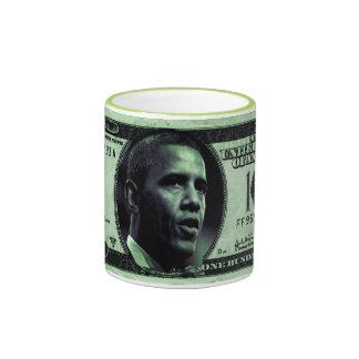 Barrack Obama 100 Dollars Bill Mug