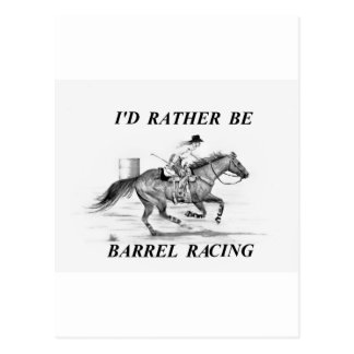 Barrel Racer Postcard