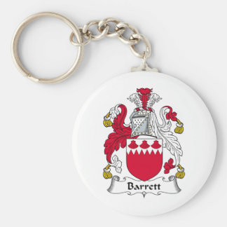 Barrett Family Crest Basic Round Button Key Ring