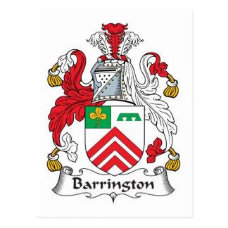 Barrington Family Crest Postcard