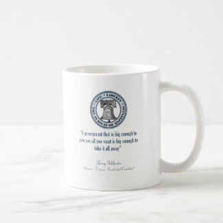 Barry Goldwater Quote (Big Government) Basic White Mug