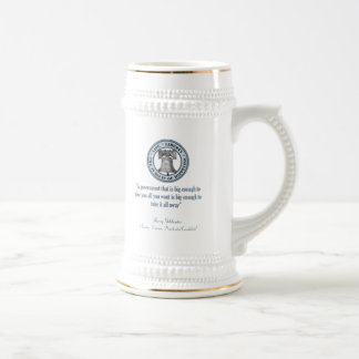 Barry Goldwater Quote (Big Government) Beer Steins