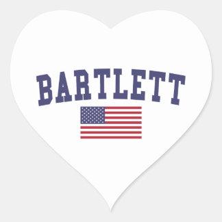 Bartlett TN US Flag Heart Sticker