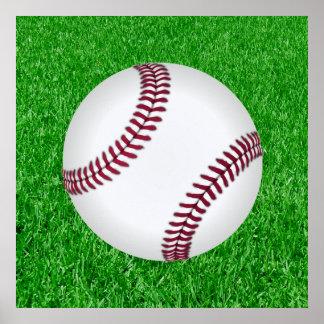 Baseball - Lawn Poster