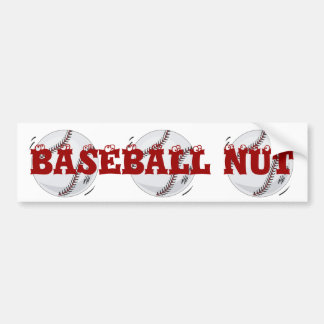 Baseball 'The Boss' ~  with editable background Bumper Sticker