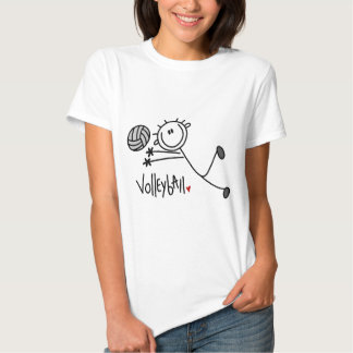 Basic Stick Figure Volleyball Tshirts and Gifts