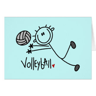 Basic Stick Figure Volleyball Tshirts and Gifts Greeting Card